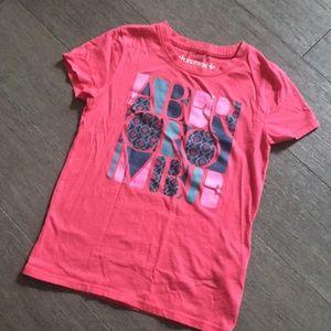 Abercrombie kids girls pink shirt T-shirt S 7/8